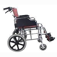 Zxyan 自走用車いす 軽量折りたたみ車椅子高齢者障害者の旅行車いす高齢者トロリーは、ドライビング医療大人医療ストレージ用品 介護・介助兼用