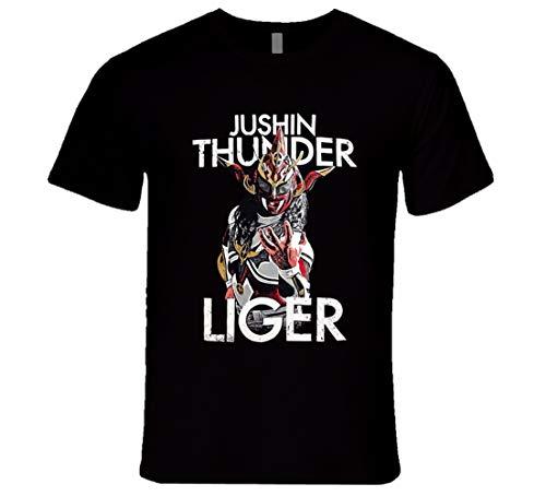 FUBAO Jushin Thunder Liger New Japan Pro Wrestling NJPW Legend Classic Retro Wrestling T Shirt Nero Nero XL