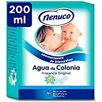 Nenuco Agua de Colonia recomendado para bebés, fragancia original - formato de cristal 200 ml