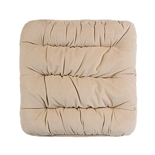 QIANGU Cuadrado Cojín Cojines sillas for sillas jardín sofás Camas - Juego Cojines con Relleno cómodo for sofá/Coche/Oficina/decoración (Color : Beige, Size : 48x48cm)