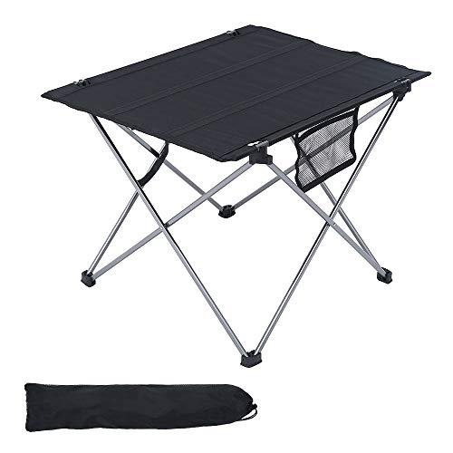 78Henstridge Campingtisch klappbar, Tragbar Klapptisch mit Transporttasche, Outdoor Klapptisch Camping, Falttisch für Camping Picknick Kochen Garten Wandern Reisen 56 x 43 x 38CM (Grau)