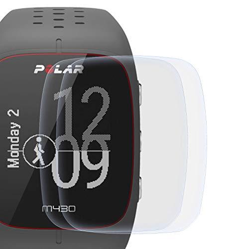 zanasta 2 Stück Schutzfolie kompatibel mit Polar M430 Bildschirmschutzfolie Nano Schutz Folie | Volle Abdeckung, Klar Transparent