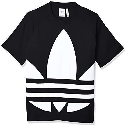 adidas Big Trefoil Boxy Tee, Maglietta Uomo, Nero (Black), M