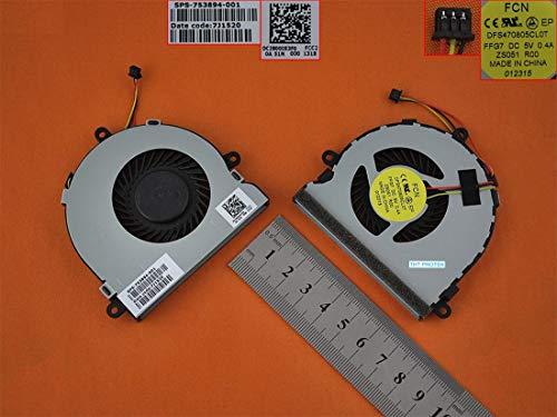 Kompatibel für HP Pavilion 14-G, 14-S, 14-R Lüfter Kühler Fan Cooler 3-PIN TPN-C116 TPN-C125