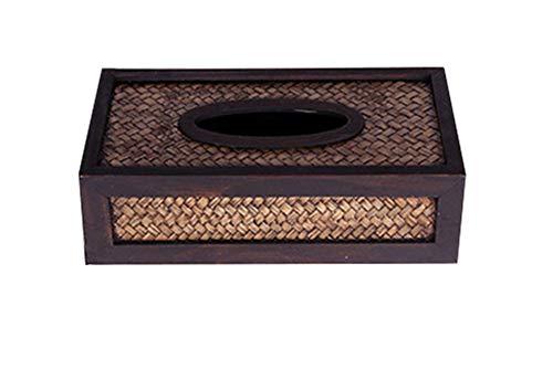 GAOwi Caja de Tejido para la Oficina en el hogar, Coche de decoración del Coche,Caja de pañuelos de ratán
