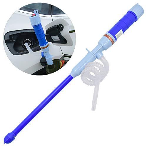 WEKON AUTO elektrische handpomp, sifonpomp waterpomp benzinepomp voor dieselolie water vloeistoffen op batterijen (blauw)