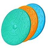 Frisbee de caucho natural para perros, 18 cm, juguete de entrenamiento...