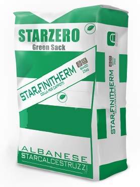 STAR.ZERO - STAR FINITHERM - Intonaco speciale collante e rasante, per ripristini in rasatura armata, per incollaggio rasatura isolamenti a cappotto. Rispetta l'ambiente (25Kg, grigio dolomiti)