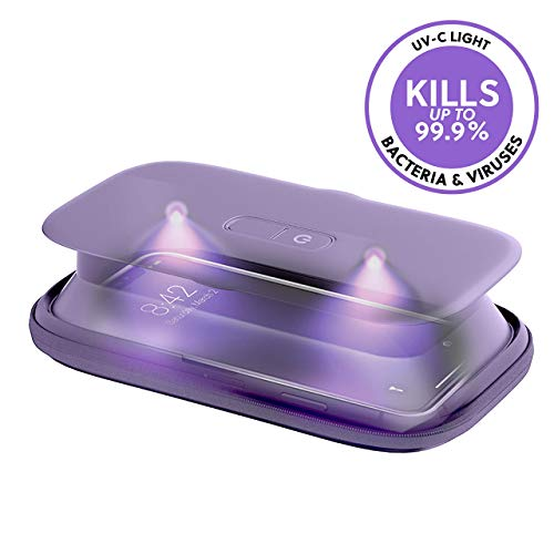 HoMedics UV-Clean Phone Sanitizer | Faster Than Any UV Sanitizer On The Market | Kills Up to 99.9% of Bacteria & Viruses at The DNA Level | Mercury and Chemical Free (Purple)
