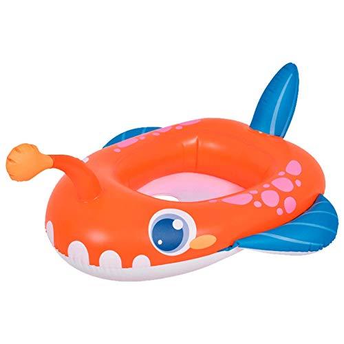 YAMMY Opblaasbare babywalker zwemzitje, lantaarnvis, zwemzitring, geschikt voor babys, peuters, opblaasbare zwemring (zwembad)