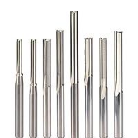 超硬ビット CNCルーターエンドミルミーリングMDF合板ビット2ピース3.175 4 5 6 8 10mmストレートスロットウッドカッターCNC固体炭化物2ダブルフルート (Dimensions : 4x17)