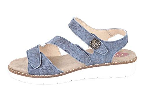 Sandalias mujer para pies delicados (Cari Falcó) Color azul