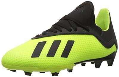 adidas Unisex-Kid's X 18.3 FG Soccer Shoe, Solar Yellow/Black/Solar Yellow, 4.5 M US Big Kid