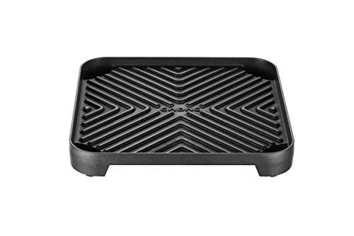Cadac 2-Cook Grillplatte (gerippt), schwarz
