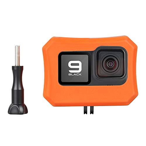 HSU Floaty Case per GoPro Hero 9, Galleggiante Custodia Floater Anti-sink Galleggiante accessorio per sport acquatici Surf, nuoto immersioni (arancione)
