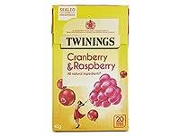 英国紅茶 トワイニング 日本未発売品 クランベリー&ラズベリー ノンカフェイン ティーバッグ20入り