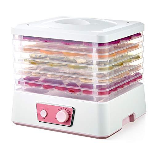 LLXLJ Deshidratador de Alimentos de 5 bandejas, 250 W, secador de Frutas y Alimentos, 35 ℃ -70 ℃ Deshidratador eléctrico de con Control de Temperatura Ajustable para secar Frutas, Carnes y Verduras