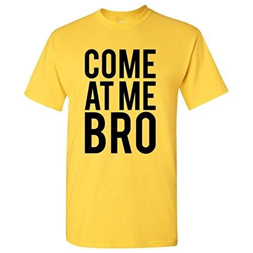 Come at Me Bro - Funny, Manatee, Novelty, Commercial T Shirt - X-Large - Daisy