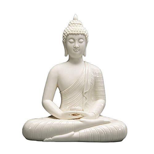 ZHANGAIGUO Ceramic Buddha Statues, Zen Buddha Statues of Sakyamuni, Bodhi Buddha Decorations, Outdoor Garden and Courtyard Decoration Art Ornaments