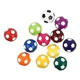 POPETPOP 12 Unidades de Bolas de Fútbol Bolas de Mesa Bolas de Mesa Bolas de Mesa Futbolín Accesorios de Repuesto ( Multi Color )