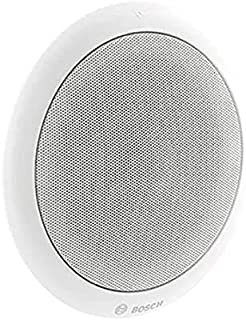 Bosch LC1-UM24E8 Ceiling Loudspeaker with Integrated Circular Metal Grille – Ceiling Speaker for Music and Speech Reproduc...