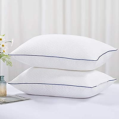 Tminnov Super Soft Pillows 2 Pack Bamboo Fiber Pillows for Bed Pack of 2 Hotel Quality