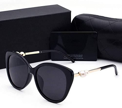 Gepolariseerde zonnebril Dames Mode Persoonlijkheid Knorretje Kruid Dames Gepolariseerde zonnebril UV-bescherming Buiten rijden Rijden Winkelen Zonnebril Zwart Goud