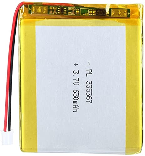 3.7V 630mAh 335367 Batería de Litio Recargable de lipo de lipo Paquete de batería de Iones con Conector JST-2pcs