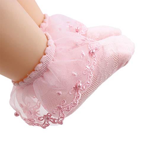 Calcetines con volantes de encaje con volantes de encaje para bebés de 1 a 8 años
