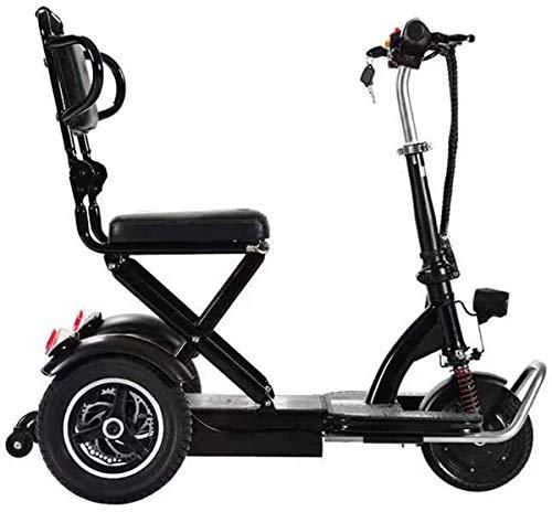 GQQ Sillas de Ruedas, Scooter Eléctrico de Movilidad de 3 Ruedas, Scooter...