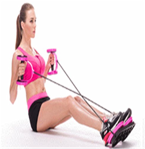 GAOJUNAI GJA Multifunción ronda de ejercicios de cuerda aparatos de ejercicios abdominales movimiento casa abdomen deportes en patines de ruedas plegable abdominal, blue