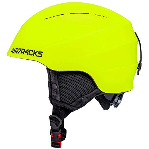 Airtracks Casque de ski et snowboard Master T52 - Système de ventilation et ajustement en continu - Fluo - L