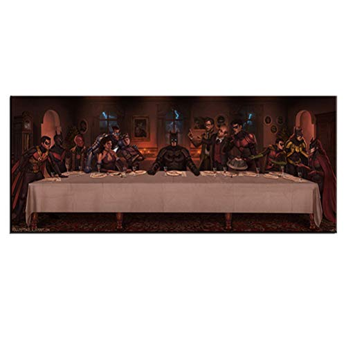 Gran Cartel De Lienzo Moderno Abstracto Avengers Dinner Picture Print Wall Decor Collection Artwork - Sin Marco,50×100cm
