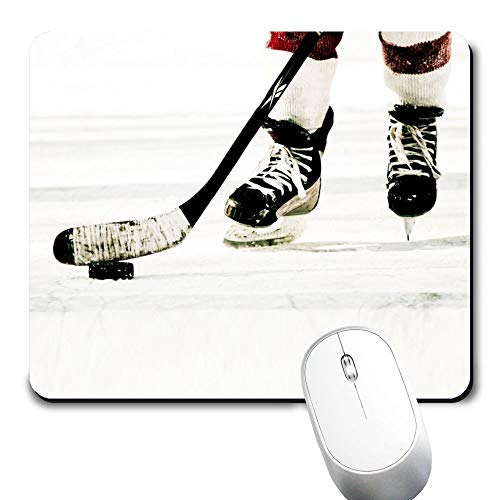 Yaxazepluy - Hockey Mouse Pad, Gaming Rectangle Mousepad for Computer Laptop Non-Slip Rubber Desk Mat,Cute Office Gift (9.5 X 7.9 Inch)