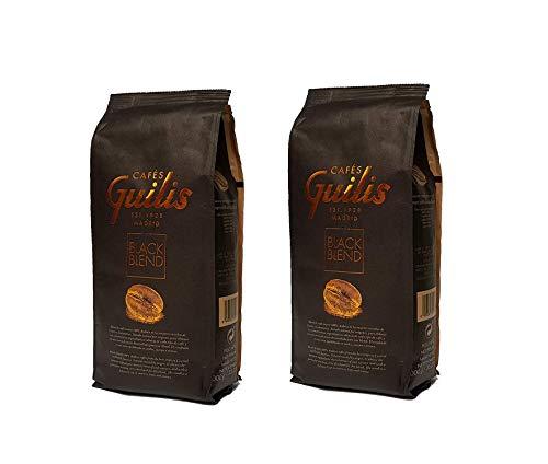 CAFES GUILIS DESDE 1928 AMANTES DEL CAFE Café en Grano Natural Black Blend de Tueste Natural 2 kg