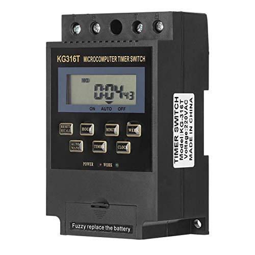 AMONIDA Interruptor de Temporizador programable, 10 Juegos de interruptores/por día 220 V / 50 Hz Temporizador de Encendido y Apagado, Carcasa de Material ignífugo, para Olla arrocera(10A)