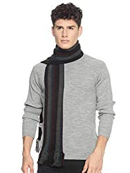 Mens Acrylic Striped Muffler