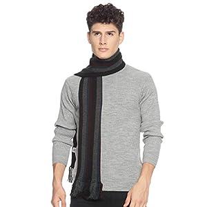 513 Men Acrylic Woolen Casual Winter Wear Verticle Striped Knitted Warm Premium Mufflers Multicolor 6 41