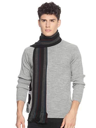 513 Men Acrylic Woolen Casual Winter Wear Verticle Striped Knitted Warm Premium Mufflers Multicolor 1 41