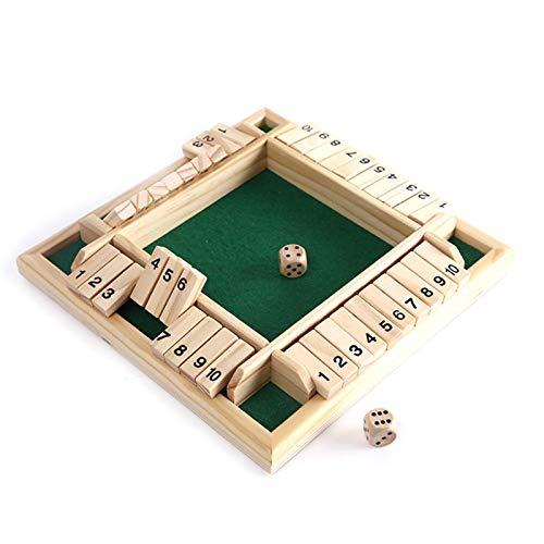 Juego de dados Shut the Box - 4 jugadores Juego de mesa...