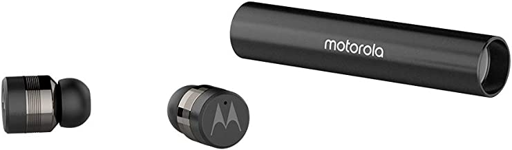 Motorola Vervebuds 300 Compact True Wireless Earbuds, 10H Playtime, Built-in Mic, Bluetooth 5.0, Full Control on Either Bud - Works with Alexa - Black