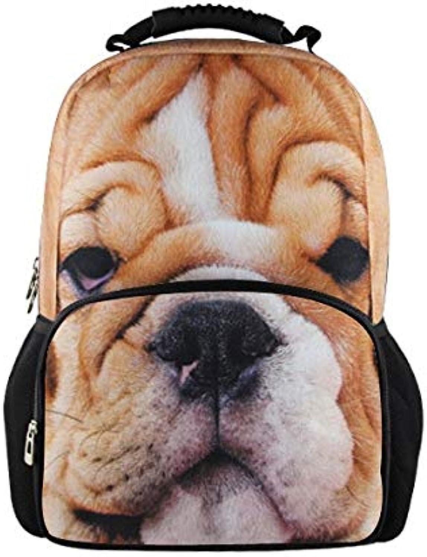Bgdo.cccc Mnner Frauen im Freien Schultern Tasche Stoff Rucksack Drucken 3D Daypacks 3D Größe 31cm18cm44cm,3115A