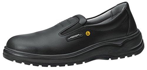 Abeba ESD-S-Schuh x-Light Slipper schwarz, Glattleder, CE, EN ISO 20345:2012, S2, Gr. 35-48 (40 EU)