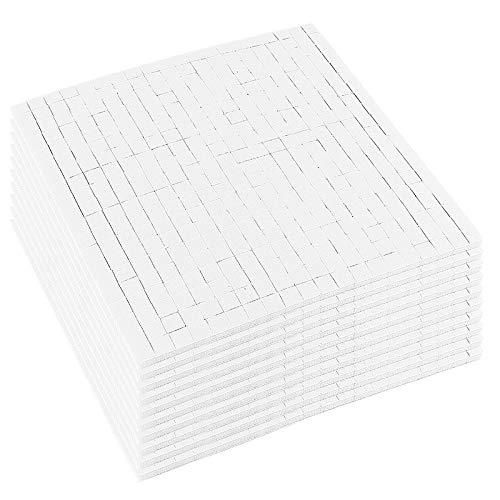 4000 Schaumklebepads, 5 x 5 mm, 3-D Klebepads, doppelseitig klebend, 10 Bogen à 400 Stück (weiß, 3)