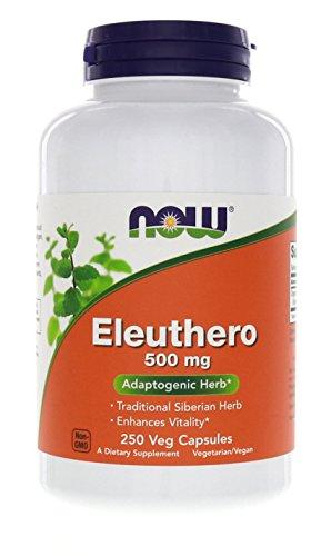 Now Foods, Eleuthero 500mg, 250 Cápsulas