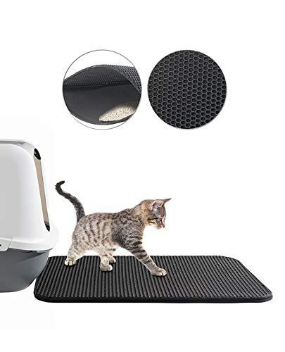 Sweetypet Katzenklovorleger: Wasserdichter Katzenklo-Vorleger mit Wabenstruktur, 65 x 45 cm (Katzenstreumatte)