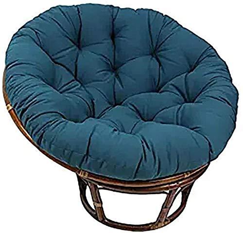 YAYY Cojín Redondo para Asiento de Patio Papasan D130cm (51.2in) Cojín de Asiento de Huevo Grueso extraíble y Suave para Tatami-Blue 130cm (51inch)-Azul_110 cm (43 Pulgadas) Upgrade