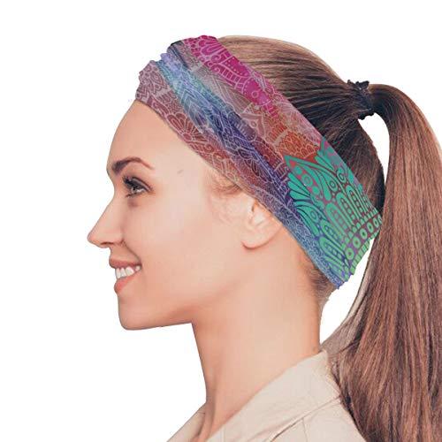Mandala Design Art Élastiques Bandeaux Head Wrap Châle Sports Bandeau De Masque pour Le Visage Écharpe Magique Accessoires De Cheveux Bandes Cravates