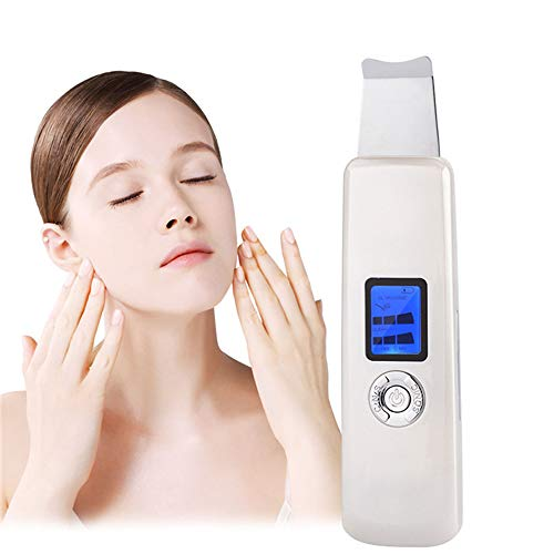 XYWN Facial Skin Scrubber, 3 Modes Facial Lifting Tool Blackhead Removal Pores Cleanser Skin Peeling, USB Rechargeable,White