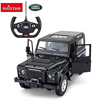 RASTAR Radio Remote Control 1/14 Scale Land Rover Denfender Licensed RC Model Car (Black)